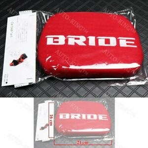 X1 Jdm Bride Racing Red Tuning Pad For Head Rest Cushion Bucket Seat Racing New
