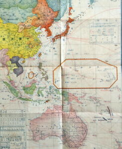 Wwii Japan War Situation Map South East Asia China Singapore Pacific War