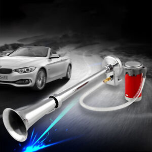 12 24v Car Motorcycle 150db Single Tube Electric Pump Air Whistle Horn Wide