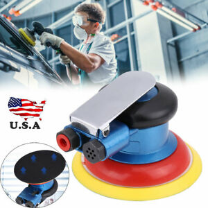 5in 9000rpm Air Power Random Orbital Sander Pneumatic Polisher Hand Sanding Tool