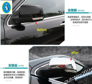 Chrome Rearview Mirror Cover Trim For Jeep Grand Cherokee 2014 2016 Accessories
