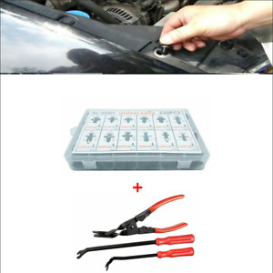 320 Pcs Boxed Car Truck Fastener Buckle 3 Pcs Portable Clips Remover Plier Tool