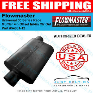 Flowmaster Universal 30 Series Race Muffler 4in Offset In 4in Ctr Out 54031 12