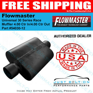 Flowmaster Universal 30 Series Race Muffler 4 00 Ctr In 4 00 Ctr Out 54030 12