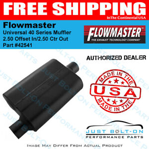 Flowmaster Universal 40 Series Muffler 2 50 Offset In 2 50 Ctr Out 42541
