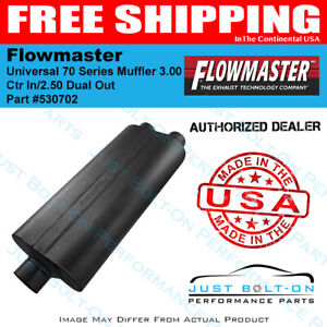 Flowmaster Universal 70 Series Muffler 3 00 Ctr In 2 50 Dual Out 530702