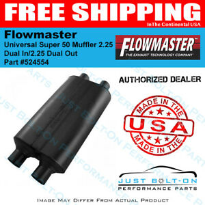 Flowmaster Universal Super 50 Muffler 2 25 Dual In 2 25 Dual Out 524554
