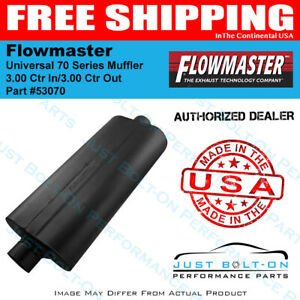 Flowmaster Universal 70 Series Muffler 3 00 Ctr In 3 00 Ctr Out 53070