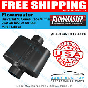 Flowmaster Universal 10 Series Race Muffler 2 50 Ctr In 2 50 Ctr Out 325108