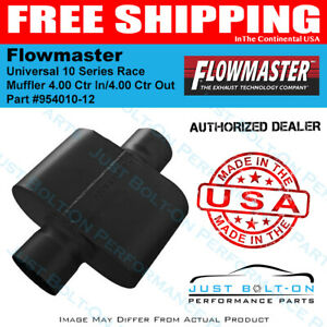 Flowmaster Universal 10 Series Race Muffler 4 00 Ctr In 4 00 Ctr Out 954010 12