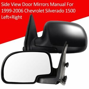 Side View Door Mirrors Manual For 1999 2006 Chevrolet Silverado 1500 Left Right