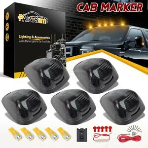 5xsmoke Roof Cab Marker Top Light 6 5730 Amber Led Bulb For Ford F 350 450 99 16
