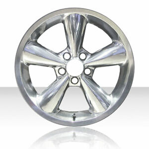 Revolve 18x8 5 Polished Wheel For 2006 2009 Ford Mustang