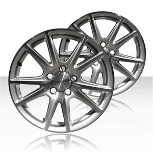 Revolve 17x8 5 Machined And Silver Rear Wheel For 2004 08 Honda S2000 Set Of 2