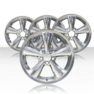 Revolve 18x8 5 Polished Wheel For 2006 2009 Ford Mustang Set Of 4