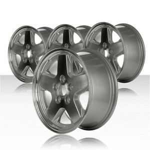 Revolve 16x7 Machined And Silver Wheel For 2002 2007 Jeep Liberty set Of 4