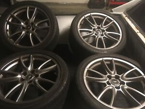 Mustang Gt Premium Wheels 19x9 With Tires Ford Oem Stock