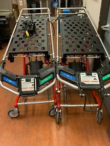 Set Of Two Ferno Powerflexx Ics Powered Ambulance Stretcher Cots W One Charger