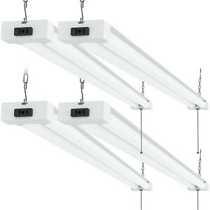 Sunco 4 Pack Frosted Led Utility Shop Light 40w 260w 6000k Daylight Deluxe