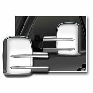Premium Fx Chrome Full Towing Mirror Covers For 2007 14 Chevy Silverado 2500 Hd