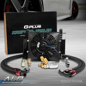 Gplus 7 Fixed Fan 15 Row An10 Thermostat Adaptor Engine Racing Oil Cooler Kit