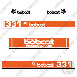 Bobcat 331 Mini Excavator Decals 1990 s ingersoll Rand Melroe Version