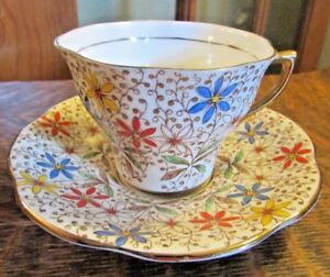 Rosina Bone China England Chintz Tea Cup And Saucer