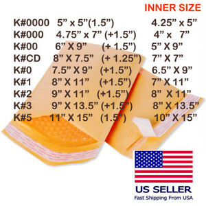 Choose Size And Quantity Kraft Bubble Mailer padded Shipping Bag envelope