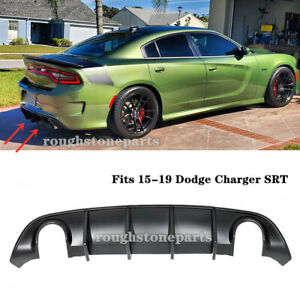 Fits 15 19 Dodge Charger Srt Oe Style Rear Lip Bumper Valance Diffuser Pp