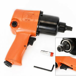 1 2 Hammer Air Impact Wrench Tool Gun 90 Psi Twin Hammer Mechanism 570ft Lb Usa