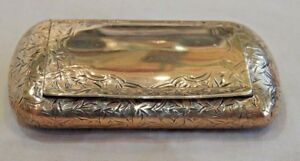 Antique George Unite Victorian Sterling Silver Snuff Box From 1884