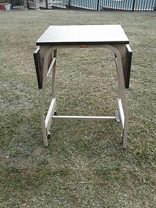Mid Century Industrial Hascotypewriter Table Stand W Fold Down Sides Nice