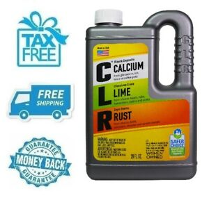 New Clr Non Corrosive Calcium Lime Rust Remover Biodegradable 28 Oz Bottle Jug