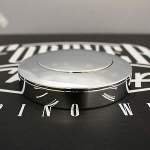 Chrome Smooth Big Rig 5 Hole Horn Button With Forever Sharp Logo