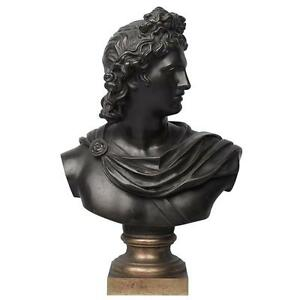 19th Century Grand Tour Bronze Bust Of Apollo Belvedere After Leochares Br