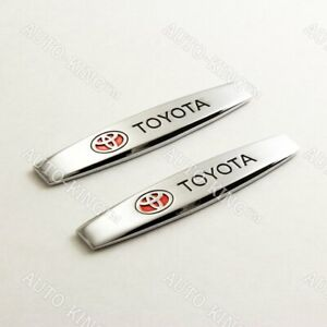 Car Trunk Side Fenders Door Emblem Badge Sticker Decal 3d Metal For Toyota 2pcs