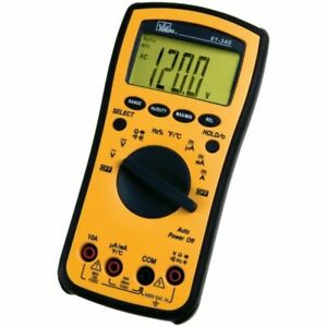 Ideal 61 340 Test Pro Digital Multimeter With Temp Capacitance Backlight Dmm