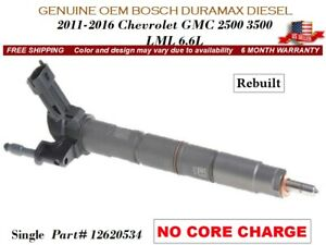 1 Fuel Injector Oem Bosch Duramax Diesel 11 16 Gmc Chevy 6 6l Lml No Core Charge