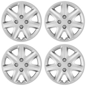15 Push On Silver Wheel Cover Hubcaps For 2003 2005 Honda Civic