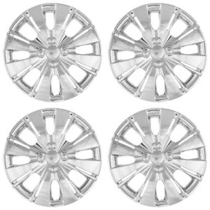 15 Push On Chrome Wheel Cover Hubcaps For 2012 2015 Toyota Yaris