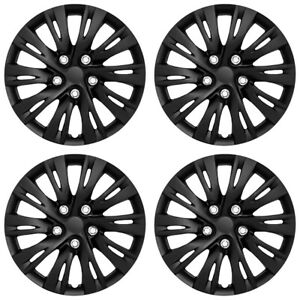 16 10 Split Spoke Gloss Black Wheel Cover Hubcaps For 2012 2014 Toyota Camry