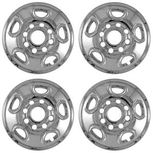 4 Chrome Express Van 16 8 Lug Wheel Skins Hubcaps Rim Simulators Center Covers