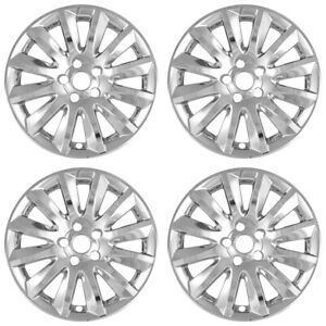 4 17 Chrome Wheel Skins Hub Caps Rim Covers Alloy Wheels For 2011 2014 Chrysler