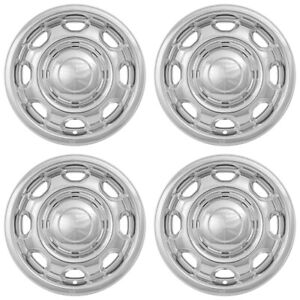 4 Chrome 2010 2018 Ford F150 Xl 17 Wheel Skins Hubcaps 8 Slot Steel Rim Covers