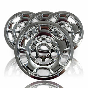 4 Chevy Silverado 2500 3500 Hd 17 8 Lug Chrome Wheel Skins Rim Covers Hubcaps