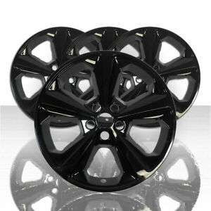 4 Black 17 Wheel Skins Hub Caps Full Alloy Rim Covers For 2013 2016 Ford Escape