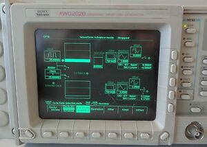 Sony Tektronix Awg 2020 Arbitrary Waveform Generator With Rack Mount Awg2020