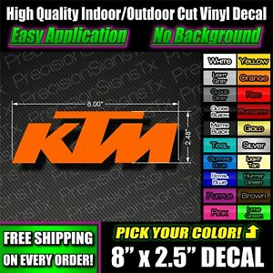 Ktm Logo Decal Vinyl Sticker Window Graphic Moto Truck Emblem Atv 250 Racing Usa