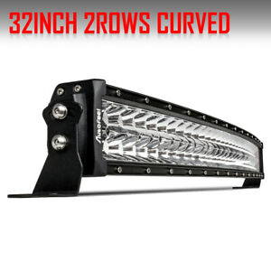 Dual row 32inch 840w Curved Led Light Bar Spot Flood Truck Offroad Vs 30 34 36
