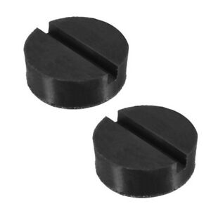 2pc Universal Trolley Floor Jack Disk Pad Adapter Rubber Pinch Weld Side